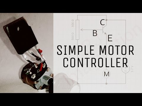 Speed controller | Simply control the speed of dc motor | using transistor and tone