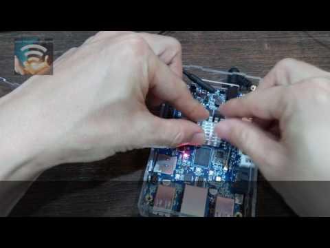 Apply heat shrink and cooling fan to Orange Pi Plus 2 miniPC