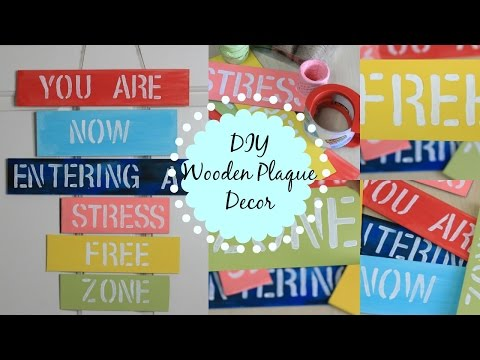 DIY HANGING WOODEN PLAQUE DECOR| Easy Colorful Room/Wall Decor| Lovely gift idea