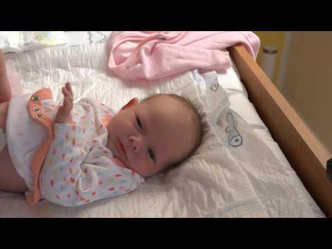 Sleepy Baby Diaper Change (2 week old)