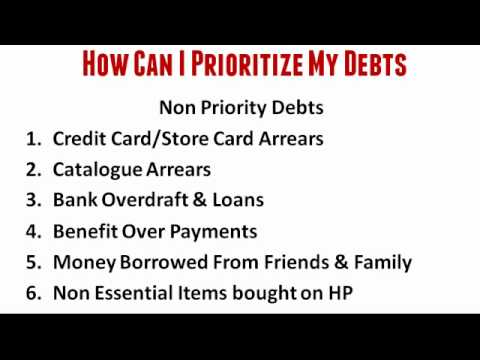 How Can I Prioritize My Debts