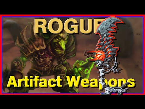 WoW Legion Beta Artifact Weapons - Rogue