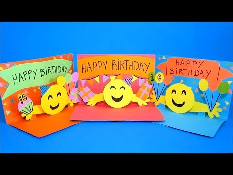 DIY Pop Up Card | 3D Emoji Birthday Cards | Easy Crafts For Kids