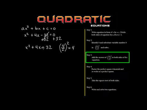 Solving Quadratic Equations By Completing The Square: The EASY way! 1.1