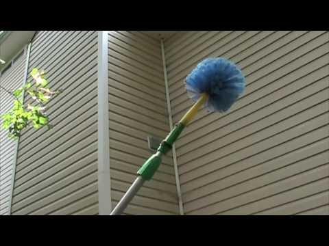 Webster Web Remover Demonstration on Spider Webs