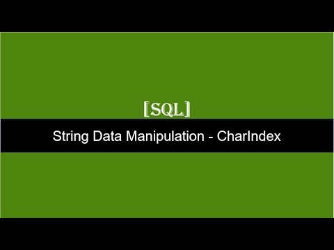 String Manipulation Function CharIndex   SQL Server