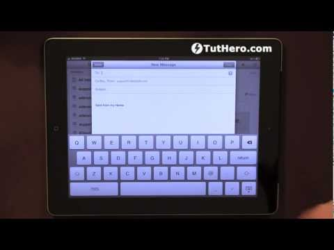 iPad Tutorial - How to change your email signature on the iPad - v24
