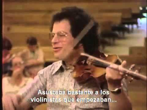 Perlman on how to do staccato (subtitulado)