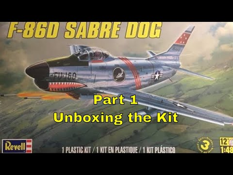 Building the Revell 1/48 F-86D Sabre Dog- Part 1