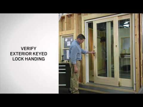 Exterior Keyed Lock Installation on Andersen® Frenchwood Gliding Doors