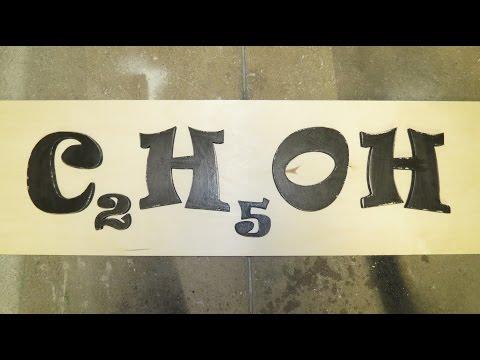Molecular Formula of Alcohol (Ethanol) Sign