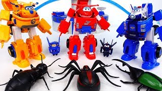 Go Go Super Wings Robot Suits~! Bugs In The World Airport - ToyMart TV