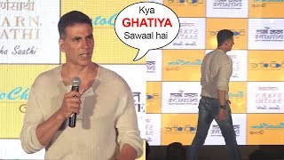 Akshay Kumar ANGRY On Reporters Embarrassing Questions & Walks Off From Stage