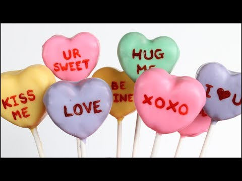 Sweethearts (Conversation Hearts) Cake Pops!!
