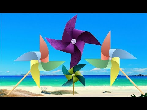 Kids Crafts DIY Toy - How to Make a Paper Toy Windmill (Pinwheel) step 1