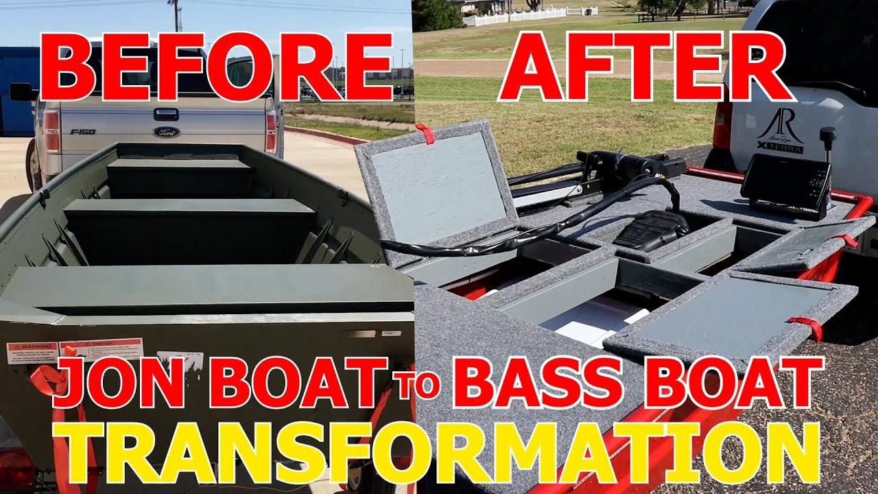 JON BOAT TO BASS BOAT FULL BUILD TIMELAPSE!!