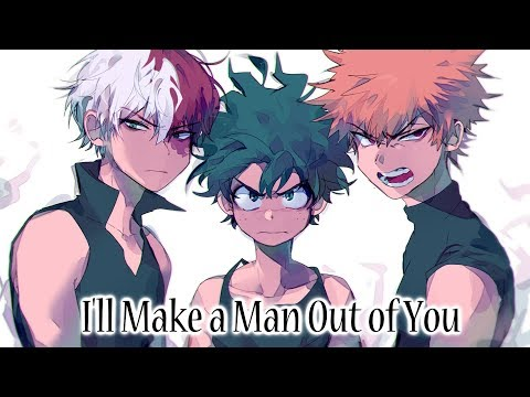 Nightcore - I'll Make a Man Out of You (Rock Cover)