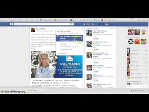 How To Use The Save Feature  In Facebook Profile Page