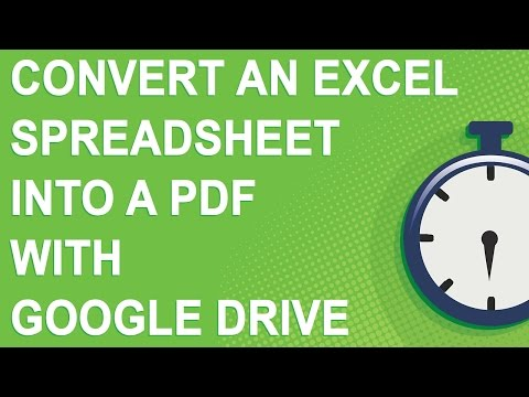 Convert an Excel spreadsheet into a PDF with Google Drive