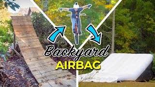 Learning tricks on the backyard airbag