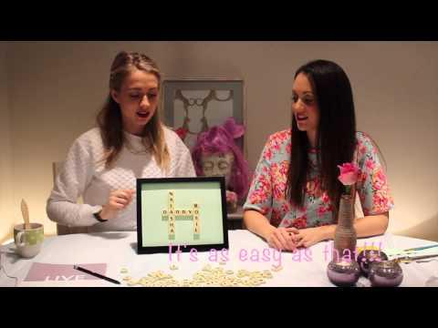 Quick & Easy DIY: Scrabble frames from Design By LaRose!