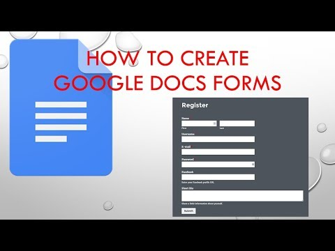 how to create a registration form using google docs