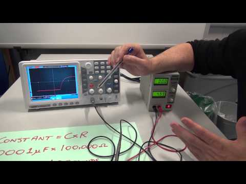 Oscilloscope Measure Voltage across a Charging Capacitor