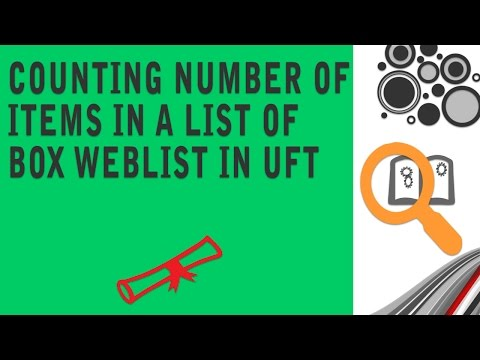 Counting Number of items in a list box weblist in UFT