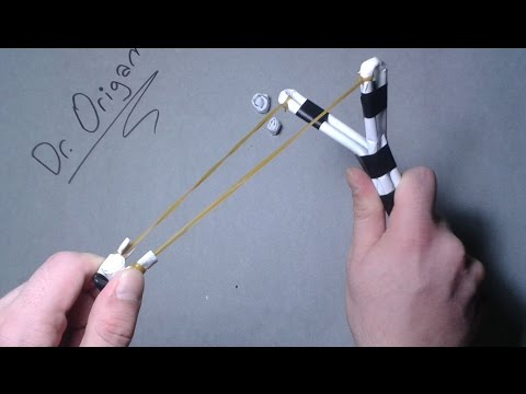 |DIY| How to make a Paper Slingshot  |VERY SİMPLE and POWERFULL |