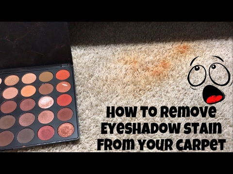 HOW TO: REMOVE EYESHADOW STAIN FROM CARPET | Jenniefly Beauty