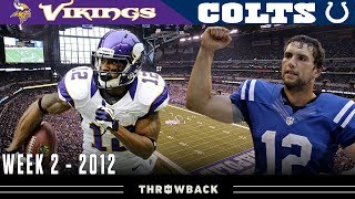 Andrew Luck's 1st Game in Indy! (Vikings vs. Colts, 2012)
