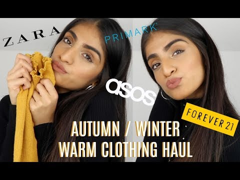 HUGE AUTUMN WINTER CLOTHING HAUL | WARM LAYERING ITEMS THAT YOU NEED!!!!!!!