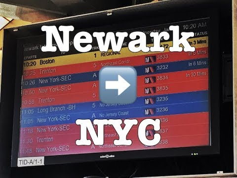 How to get from Newark Airport to Manhattan (EWR - NYC)