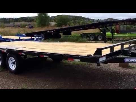 New 2016 Sure-Trac 8.5x20 Deckover Flatbed Trailer for sale.  Colorado Trailers Inc.