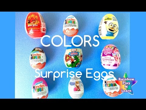 Surprise Eggs - Learn to Spell Colors Learning How To Spell Rainbow Colours Fun Toy Video Part 4