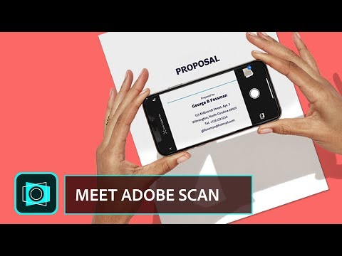 Meet Adobe Scan. The free scan app with text recognition superpowers.