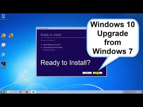 Windows 10 upgrade from Windows 7 - Upgrade Windows 7 to Windows 10 - Beginners Start to Finish 2018