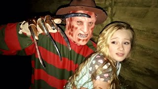 Freddy Krueger from Nightmare on Elm street kidnaps Princess Ella from her dreams(New scary skit)