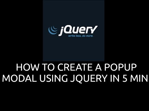 HOW TO CREATE A POPUP MODAL USING JQUERY IN 5 MIN