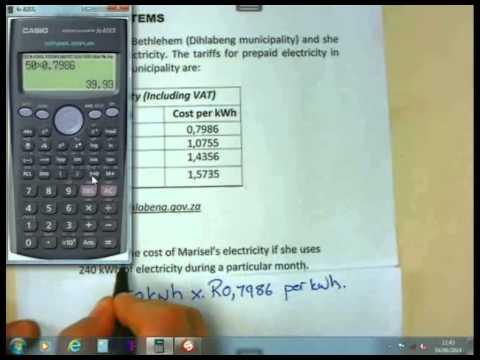 Math Lit Basics - Gr12 - Tariff Systems