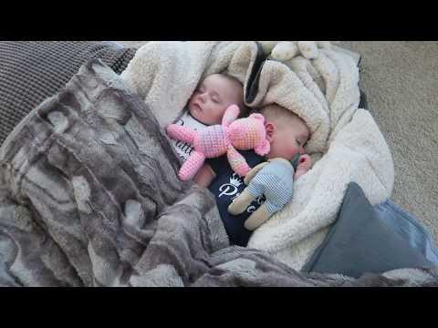 Shhhh.... Sleeping Twin Babies