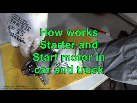 How works Toyota Corolla starter and start motor years 2007 to 2018