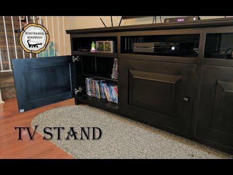 Woodworking : TV Stand / Entertainment Center Storage