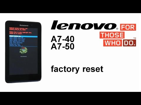 Lenovo TAB 2 A7-50, A7-40, A7-30, A3500 - Hard Reset, Screen Password Lock Removal Reset button
