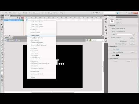 creating fade in fade out text in flash cs5