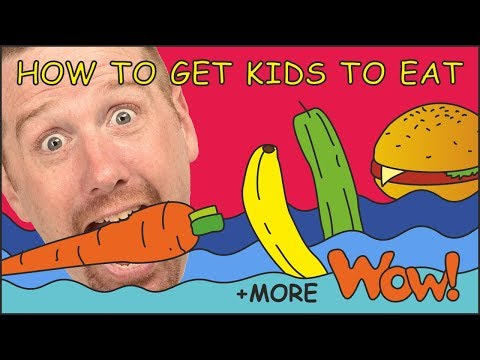 How To Get Kids To Eat Story from Steve and Maggie   + MORE Stories for Children by Wow English TV