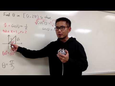 Solve cos^2(θ)=1/4