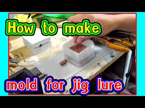Diy aen l How to make mold  for jig lure very easy l how to make a jig for fishing