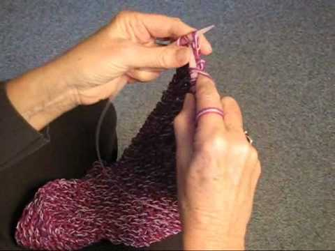 KNITTING STRAIGHT ON A CIRCULAR NEEDLE