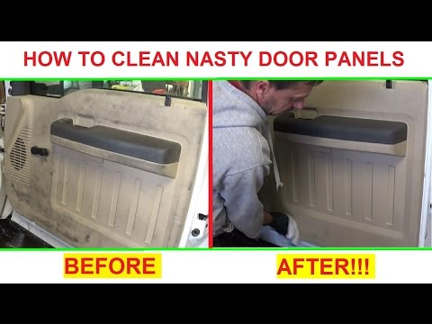 How to clean Super DIRTY Door Panels and interior plastic  Great Results